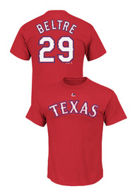 Adrian Beltre Texas Rangers Red Name and Number Player Tee