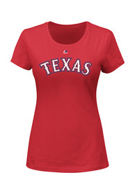 Adrian Beltre Majestic Texas Rangers Womens Red Name and Number Player Tee