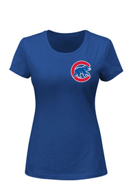 Majestic Chicago Cubs Womens Logo Blue T-Shirt