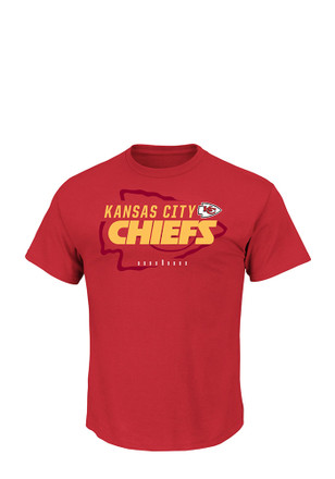Majestic KC Chiefs Mens Red Of Great Value Tee
