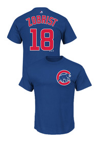 Ben Zobrist Chicago Cubs Blue Name and Number Player Tee