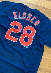 Corey Kluber Cleveland Indians Navy Blue Player Tee
