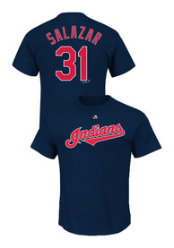 Danny Salazar Cleveland Indians Navy Blue Name and Number Player Tee