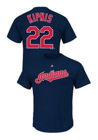 Jason Kipnis Cleveland Indians Navy Blue Name and Number Player Tee