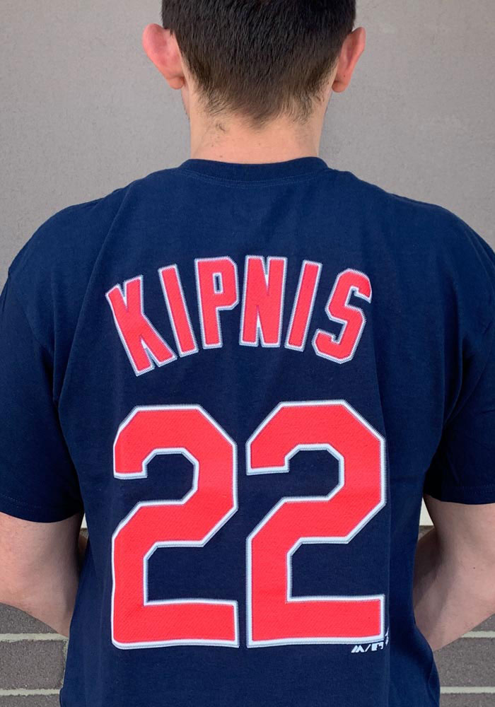 timeless design 1ec7f e053a Jason Kipnis Cleveland Indians Navy Blue Name and Number Short Sleeve  Player T Shirt
