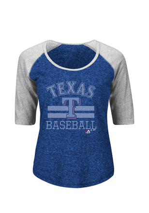 Majestic Texas Rangers Womens All in for the Win Scoop Neck Tee