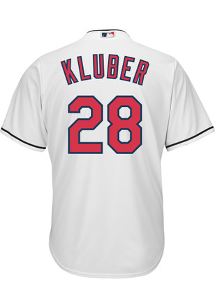 Corey Kluber Cleveland Indians Mens Replica Cool Base Jersey