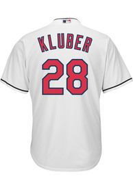 Corey Kluber Cleveland Indians Majestic Cool Base Replica - White