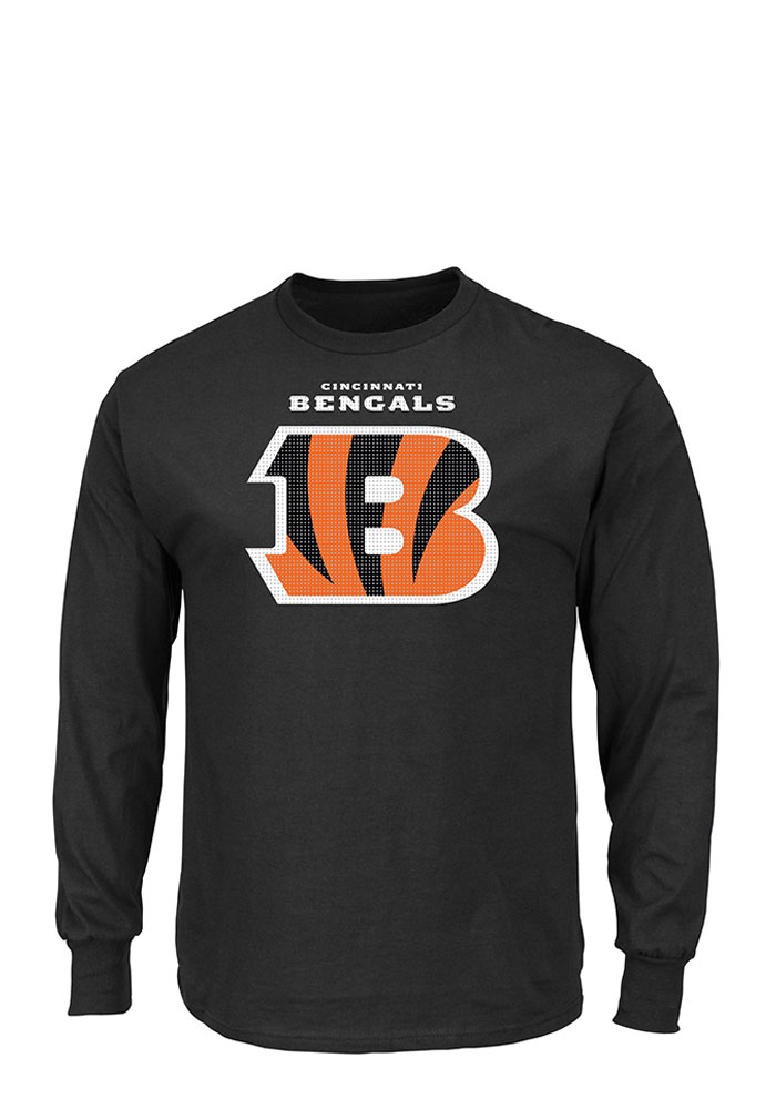 Majestic Cincinnati Bengals Black Critical Victory Long Sleeve T Shirt - Image 1