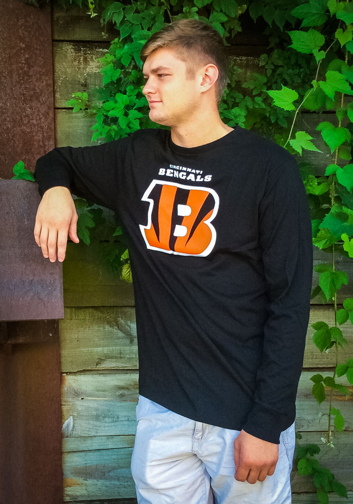 Majestic Cincinnati Bengals Black Critical Victory Long Sleeve T Shirt - Image 2