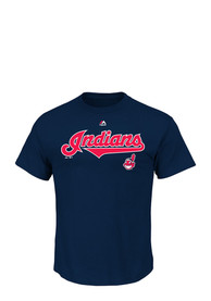 Majestic Cleveland Indians Navy Blue Series Sweep Fashion Tee