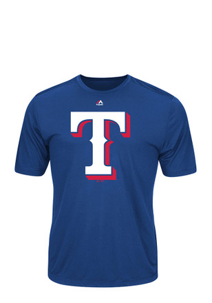 Majestic Texas Rangers Mens Blue Official Logo Tee