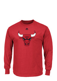 Majestic Chicago Bulls Red Logo Tee