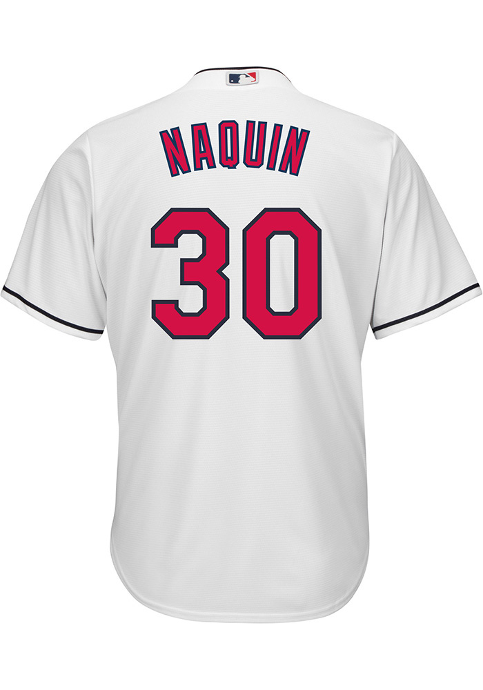 low priced 778cc a24c4 Tyler Naquin Cleveland Indians Mens Replica Cool Base Jersey - White