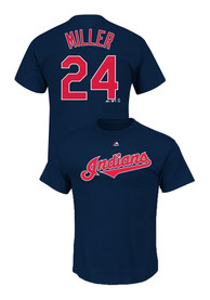 Andrew Miller Cleveland Indians Navy Blue Player Tee