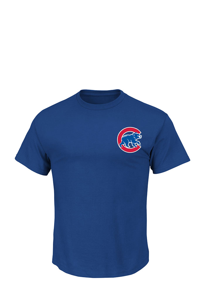 Kris Bryant Chicago Cubs Mens Blue Name and Number Short Sleeve Player T Shirt - Image 2