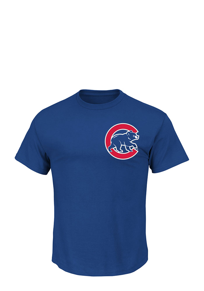 Jason Heyward Chicago Cubs Mens Blue Name and Number Short Sleeve Player T Shirt - Image 2