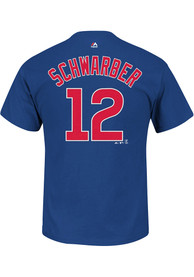 Kyle Schwarber Chicago Cubs Blue Name and Number Player Tee