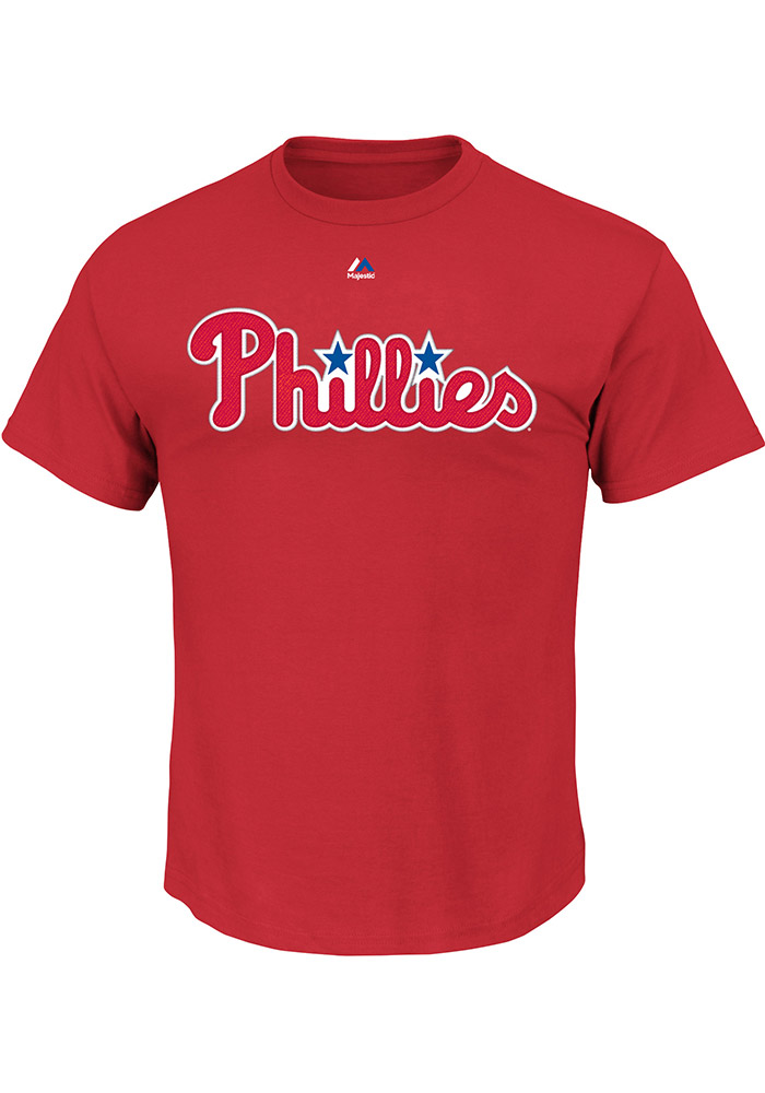 Aaron Nola Philadelphia Phillies Red Name and Number Short Sleeve Player T Shirt - Image 2