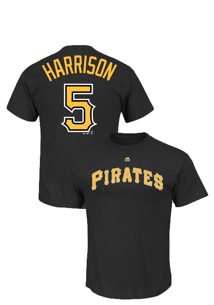 Josh Harrison Pittsburgh Pirates Mens Black Name And