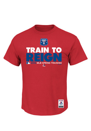 Majestic Texas Rangers Mens Red Spring Training Team Choice Tee