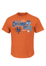 NY Mets Mens Orange 2015 NL Champs League Conquerors Tee