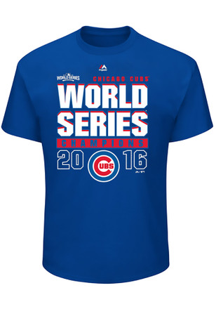 Majestic Chicago Cubs Mens Blue Champions Tee
