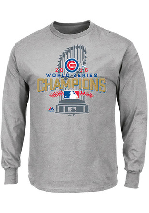 Majestic Chicago Cubs Mens Grey Locker Room Tee