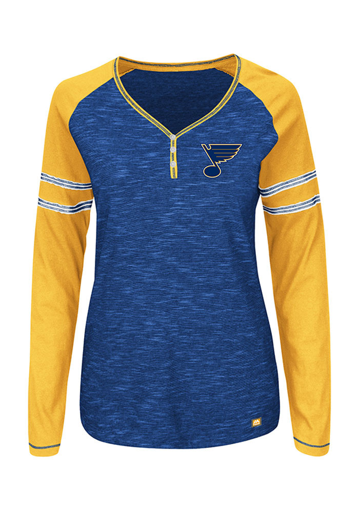 Majestic St Louis Blues Womens Blue Pure Fury Long Sleeve