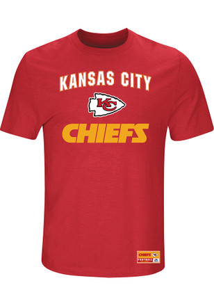 Majestic KC Chiefs Mens Red Line of Scrimmage Fashion Tee