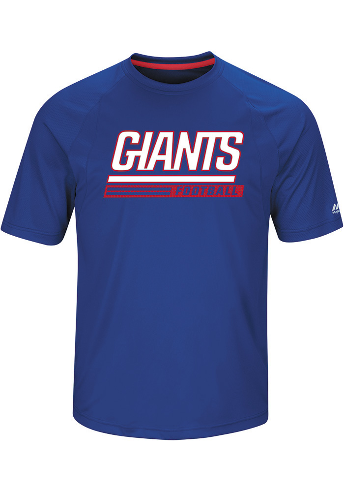 Majestic New York Giants Blue Fanfare Short Sleeve T Shirt - Image 1