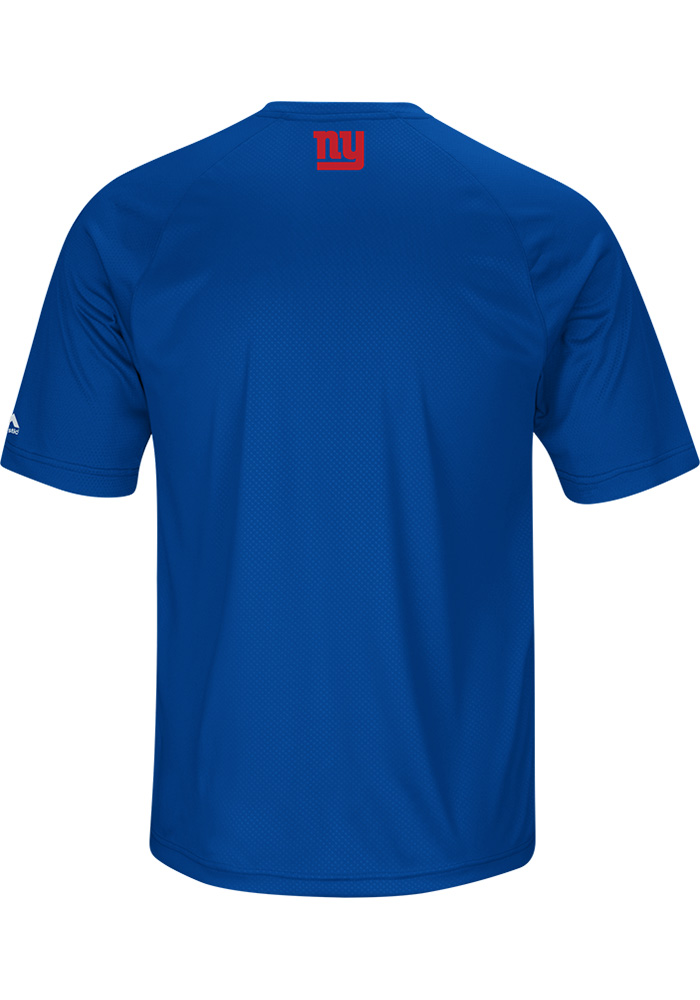 Majestic New York Giants Blue Fanfare Short Sleeve T Shirt - Image 2