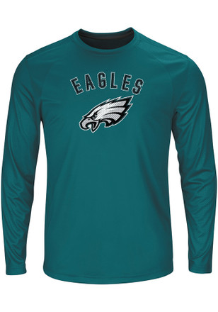 Majestic Philadelphia Eagles Mens Teal Fanfare Tee