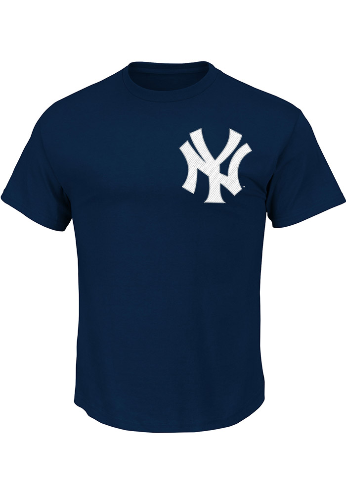 Gary Sanchez New York Yankees Navy Blue Name and Number Short Sleeve Player T Shirt - Image 2