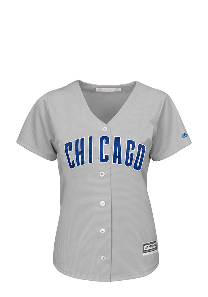 Chicago Cubs Womens Majestic Replica Majestic Jersey - Grey - Image 1
