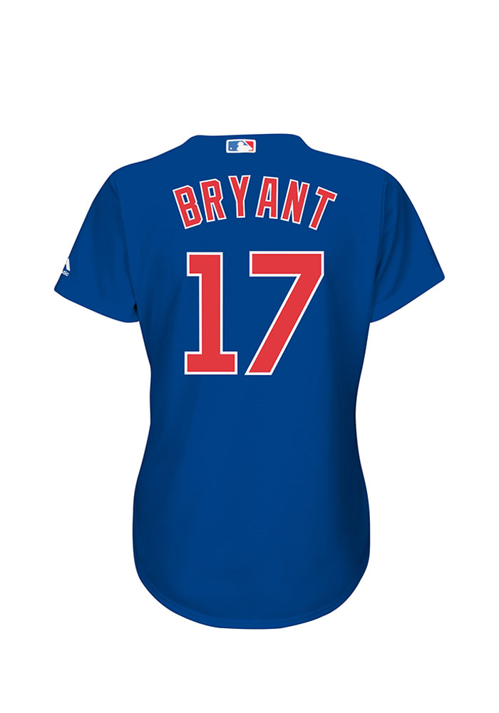 Kris Bryant Chicago Cubs Womens Replica Cool Base Home Jersey - Blue - Image 1