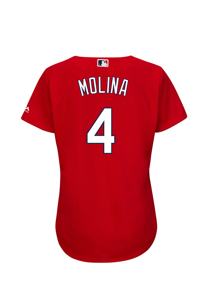 Yadier Molina St Louis Cardinals Womens Replica Cool Base Jersey Jersey - Red - Image 1