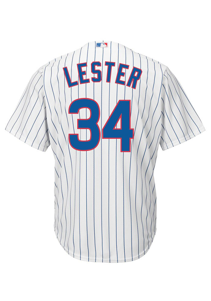 Jon Lester Chicago Cubs Mens Replica Cool Base Replica Jersey - White - Image 1