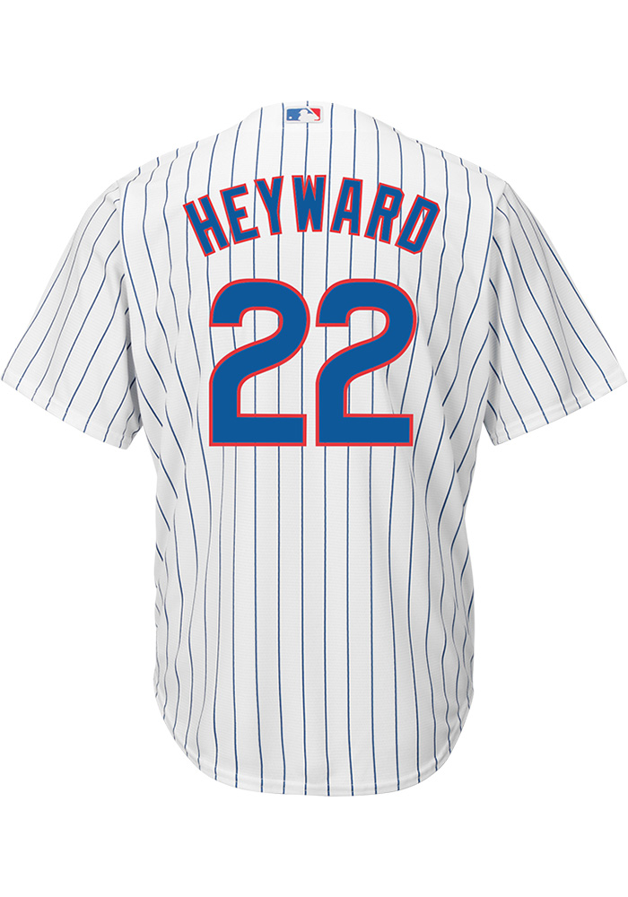 Jason Heyward Chicago Cubs Mens Replica Cool Base Home Jersey - White - Image 1