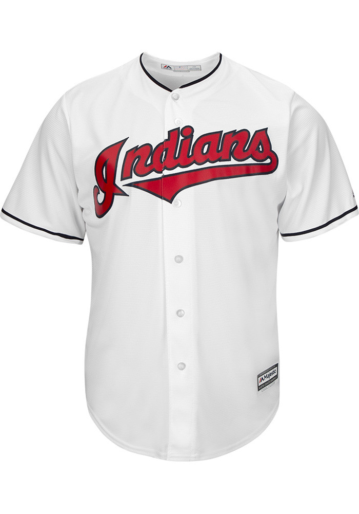 Jason Kipnis Cleveland Indians Mens Replica Cool Base Home Jersey - White - Image 2