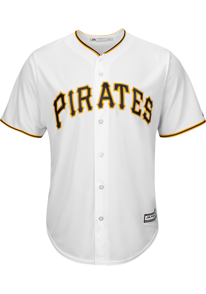 Gerrit Cole Pittsburgh Pirates Mens Replica Cool Base Home Replica Jersey - White - Image 2