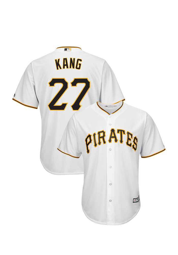 Jung Ho Kang Pittsburgh Pirates Mens Replica Cool Base Home Jersey - White - Image 1