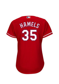 Cole Hamels Texas Rangers Womens Majestic Cool Base Alternate Replica - Red
