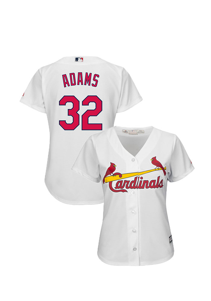 Matt Adams St Louis Cardinals Womens Replica Cool Base Home Jersey - White - Image 1