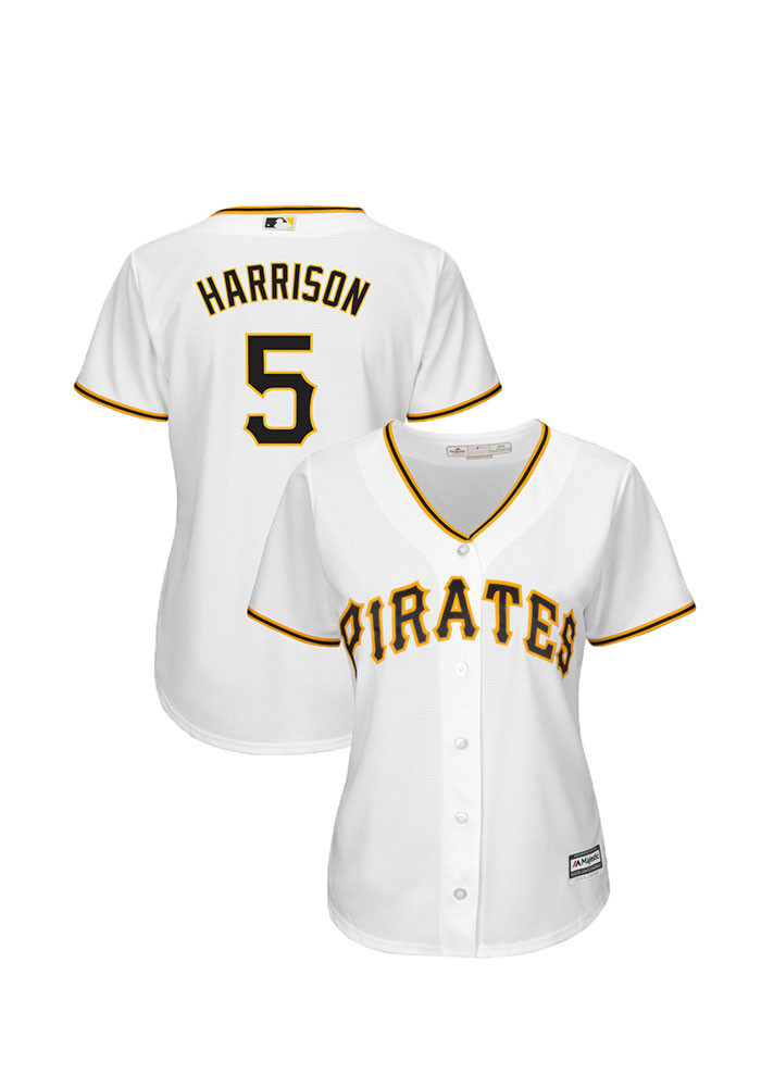 Josh Harrison Pittsburgh Pirates Womens Replica Cool Base Home Replica Jersey - White - Image 1