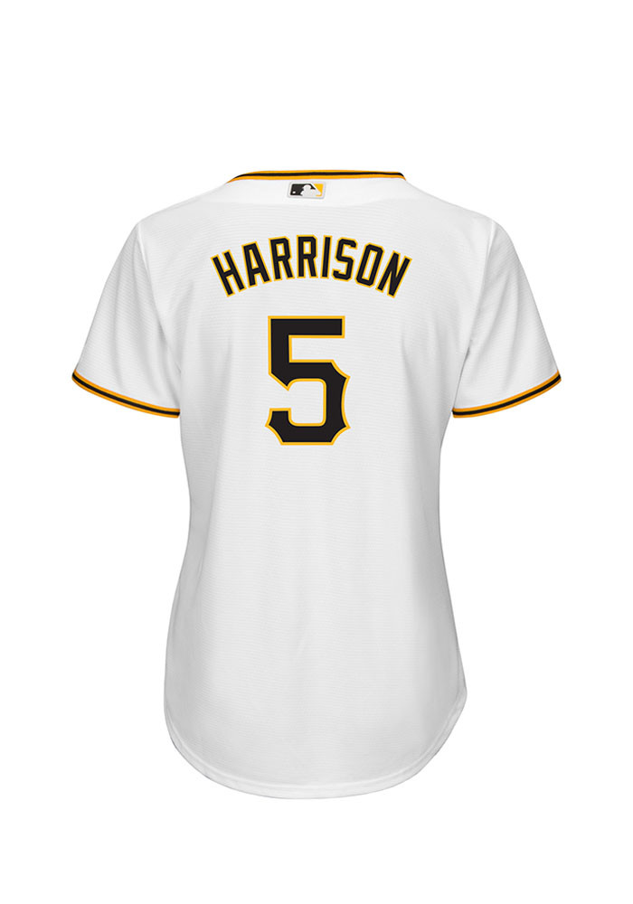 Josh Harrison Pittsburgh Pirates Womens Replica Cool Base Home Replica Jersey - White - Image 2