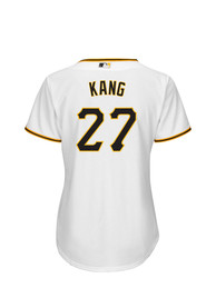 5d9e49128 Jung Ho Kang Pittsburgh Pirates Womens Replica Cool Base Home Replica Jersey