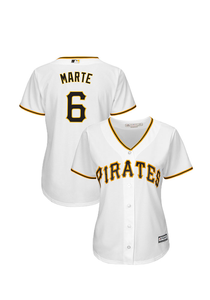 Starling Marte Pittsburgh Pirates Womens Replica Cool Base Home Jersey - White - Image 1