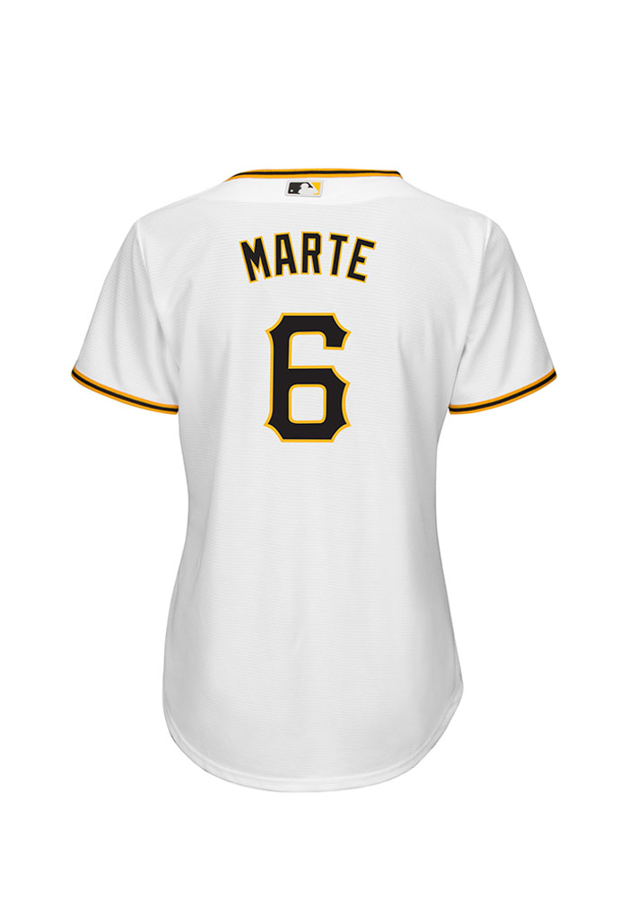 Starling Marte Pittsburgh Pirates Womens Replica Cool Base Home Jersey - White - Image 2