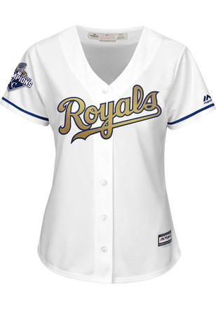 Eric Hosmer KC Royals Womens Replica Cool Base Gold Program Jersey